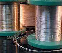 Draad, massief zilver/goud  3*0,5MM sgw305w