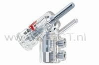 WBT-0610 Ag  10 mm2 met veiligheidspin, onder een hoe