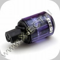 C - 037 - female 16 A- IEC  C 13  Zilver-Rhodium
