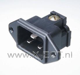 16A   250V / 20A 125V AC Inlet / Nylon body FI-33(R)