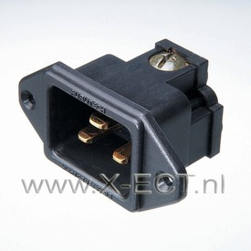 16A   250V / 20A 125V AC Inlet / Nylon body FI-33(G)